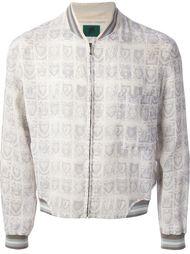 куртка с принтом и полосатой отделкой Jean Paul Gaultier Vintage