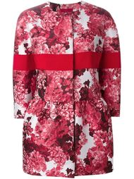 жаккардовое пальто с цветочным узором Moncler Gamme Rouge