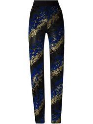 кружевные брюки кроя слим из флока Antonio Berardi