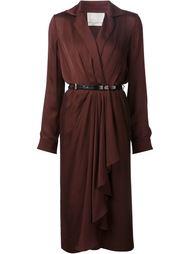драпированное платье с поясом Jason Wu