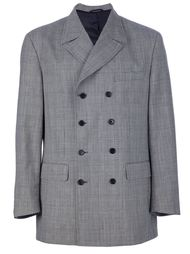 пиджак в мелкую клетку Moschino Vintage