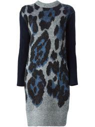 вязаное платье с леопардовым принтом  Sacai Luck