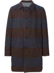 двустороннее пальто в полоску Wooster + Lardini