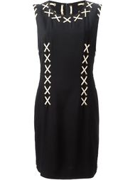 платье с ленточными вставками Moschino Vintage