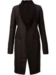 пальто с лацканами из тюля Rick Owens