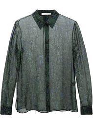 прозрачная рубашка с принтом Jason Wu
