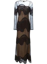 прозрачное вечернее платье с вышивкой Emilio Pucci