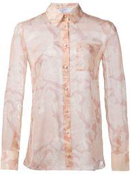 прозрачная рубашка с цветочным принтом  Altuzarra