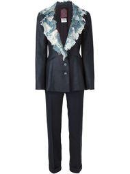 костюм с лоскутными лацканами  John Galliano Vintage