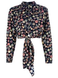 блузка с бантом спереди Jean Paul Gaultier Vintage