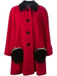 пальто с карманами в форме кошелька  Moschino Vintage