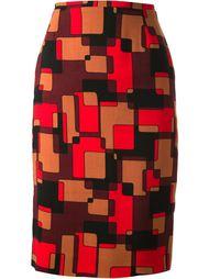 юбка с геометрическим принтом Jean Louis Scherrer Vintage