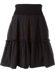 юбка А-образного силуэта с оборкой Moncler