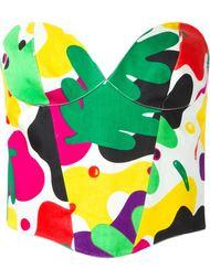 бюстье с камуфляжным принтом Thierry Mugler Vintage