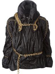 драпированная куртка с декоративной цепью  Junya Watanabe Comme Des Garçons Vintage