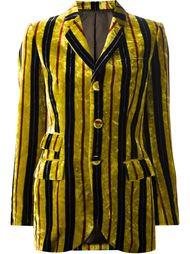 полосатый бархатный пиджак Jean Paul Gaultier Vintage