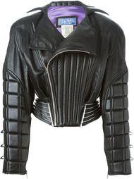 кожаная стеганая куртка-бомбер  Thierry Mugler Vintage