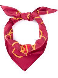 шарф с принтом  Christian Dior Vintage