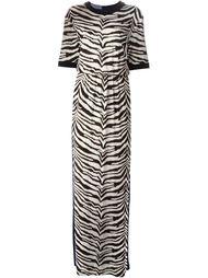 длинное платье с зебровым принтом Emanuel Ungaro