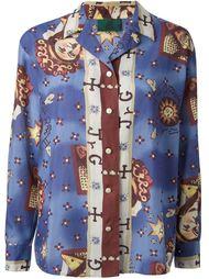 рубашка в принт 'Horoscope' Jean Paul Gaultier Vintage
