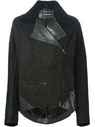 кожаная куртка с контрастными панелями Ann Demeulemeester