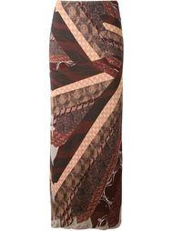 двухслойная юбка в принт  Jean Paul Gaultier Vintage