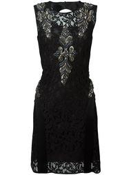 кружевное платье с вышивкой бисером Alberta Ferretti