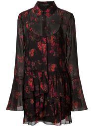 платье-рубашка с рюшами и абстрактным принтом Thakoon