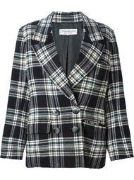 пиджак свободного кроя в клетку Yves Saint Laurent Vintage
