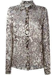 полупрозраяная блузка с принтом  Maison Margiela