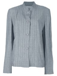 пиджак в мелкую полоску Krizia Vintage