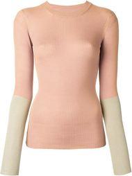 свитер с контрастными рукавами Maison Margiela
