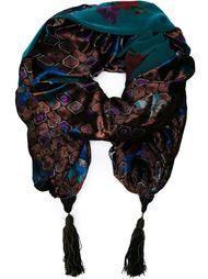 жаккардовая накидка-шаль Emanuel Ungaro Vintage