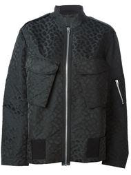 куртка-бомбер с леопардовым принтом   Alexander Wang