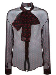 прозрачная рубашка с принтом гитар Au Jour Le Jour