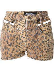 шорты с леопардовым принтом Jeremy Scott
