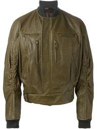 объемная кожаная куртка-бомбер Haider Ackermann