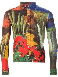 рубашка с природными пейзажами Walter Van Beirendonck Vintage