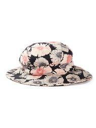 шляпа с цветочным принтом Biba Vintage