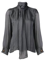 плиссированная блузка с завязками Yves Saint Laurent Vintage