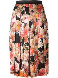 плиссированная юбка с цветочным узором Givenchy