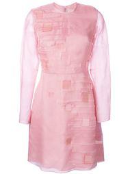 платье с необработанными деталями и геометрическими элементами Roksanda