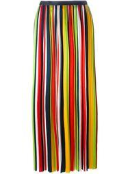 длинная плиссированная юбка в полоску Dsquared2