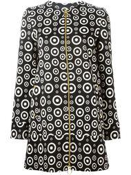 пальто на молнии с геометрическим узором Fausto Puglisi