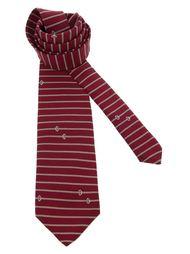 полосатый галстук с кольцами Pierre Cardin Vintage