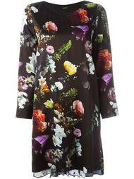 платье шифт с цветочным принтом Adam Lippes