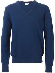 свитер c V-образным вырезом   Moncler