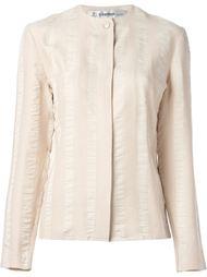 блузка из крепдешина в полоску  Jean Louis Scherrer Vintage