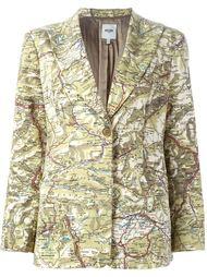 пиджак с принтом дорожной карты Moschino Vintage