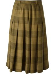плиссированная юбка в клетку Jean Louis Scherrer Vintage